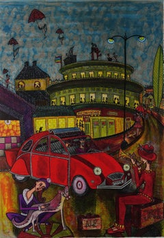 """""""Night Club"""" - vibrant and sparkling lithography - ed. 150 of 190"""
