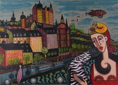 """""""South Side"""" - vibrant and sparkling lithography - ed. 140 of 190:"""