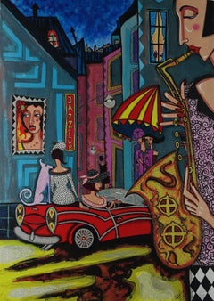 """""""Night Life"""" - vibrant and sparkling lithography - ed. 50 of 290"""