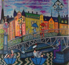 """""""East Side"""" - vibrant and sparkling lithography - ed. 170 of 220"""