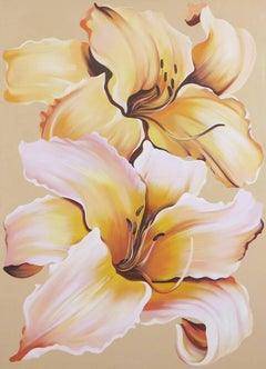 Two Lilies on Beige