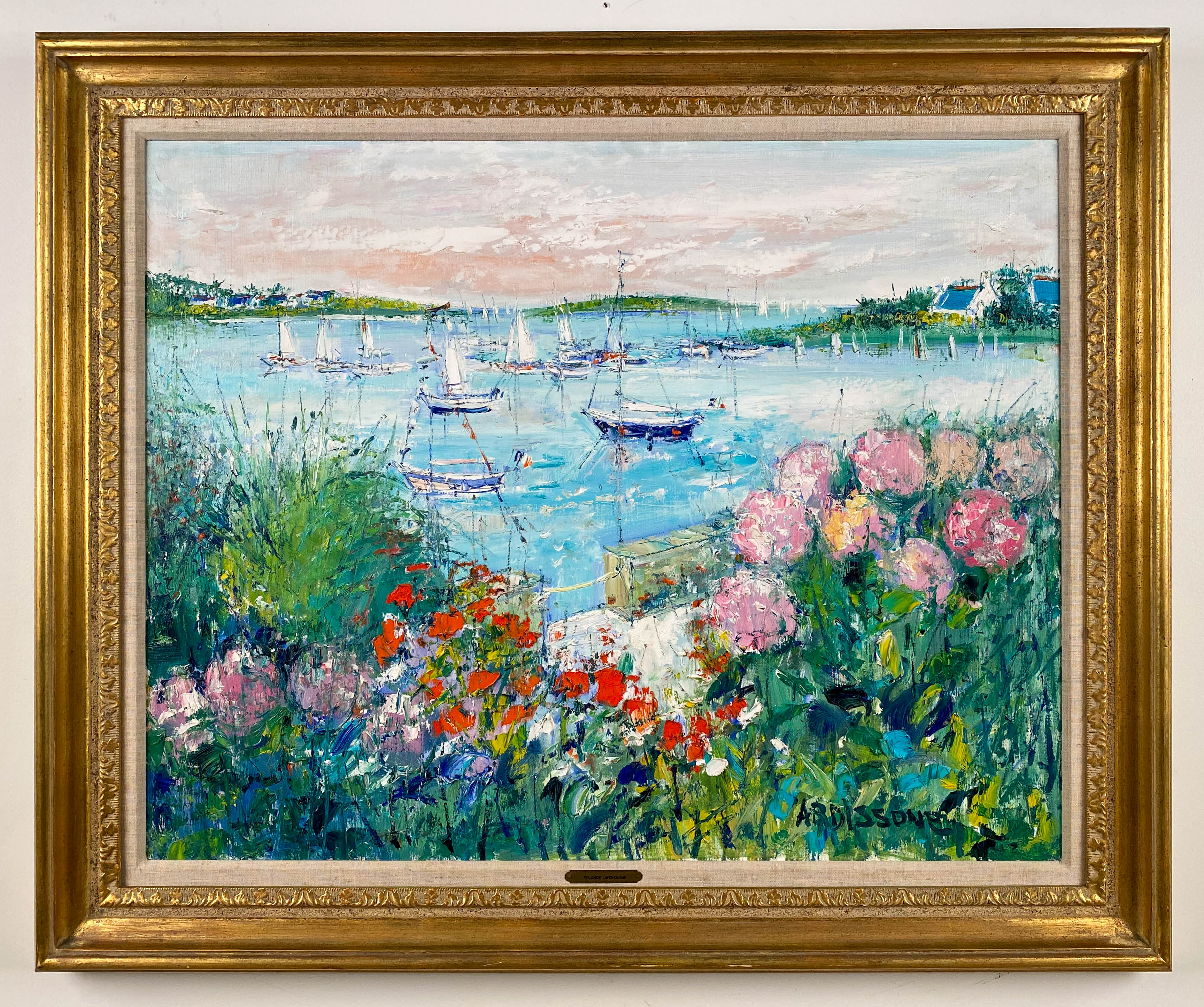 Flowering Garden Along the Water's Edge