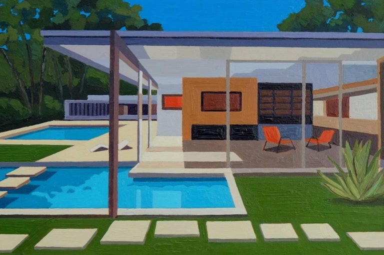 SINGLETON HOUSE II - Painting by Andy Burgess