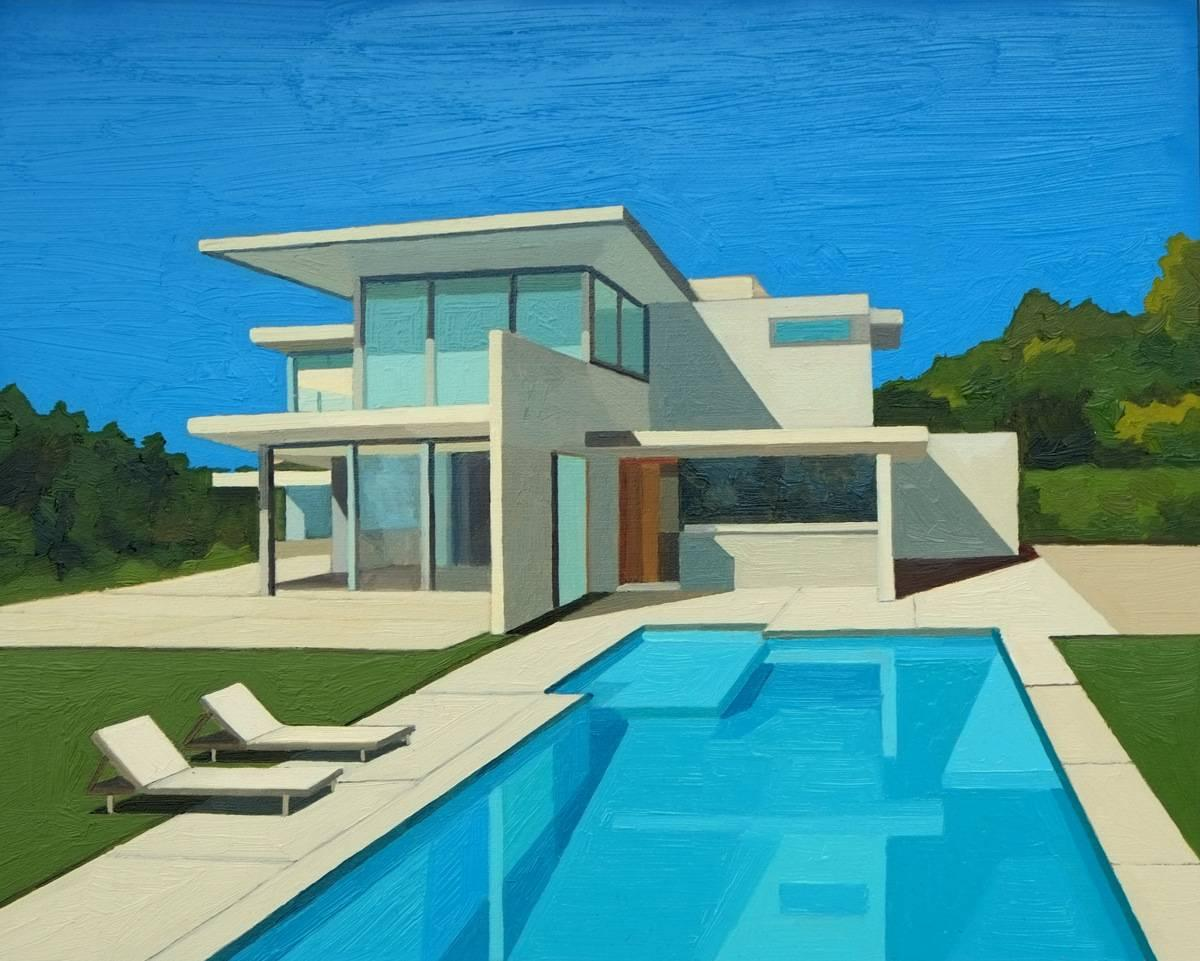 Ultra modern house Architecture Andy Burgess Ultra Modern House Unitedforjusticenet Andy Burgess Ultra Modern House Painting For Sale At 1stdibs