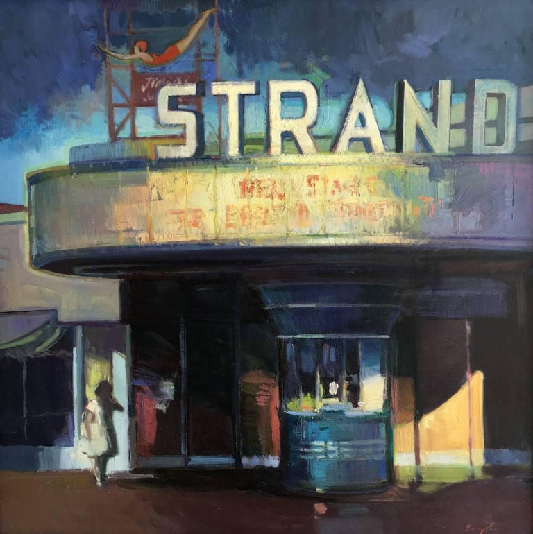 STRAND THEATRE - Painting by Francis Livingston