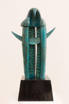 Nocte Altus - Midnight - Unique Granite Bronze Sculpturee