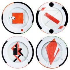 Porcelain Plates, Carreau No. 1-4, Villeroy & Boch