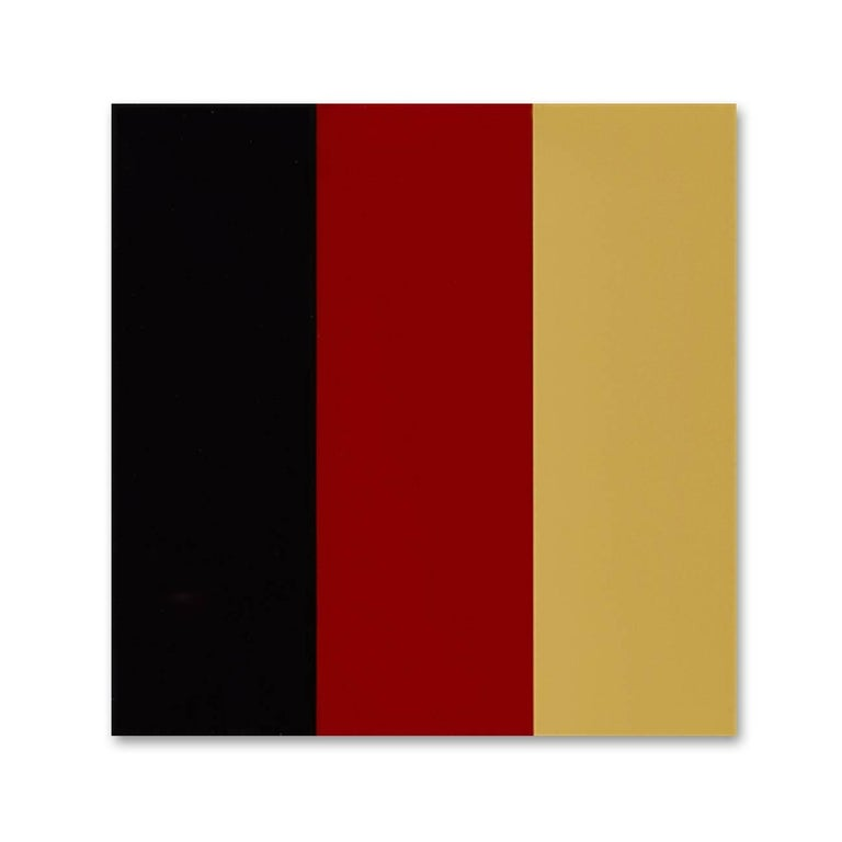 Gerhard Richter Abstract Print - Schwarz – Rot – Gold IV