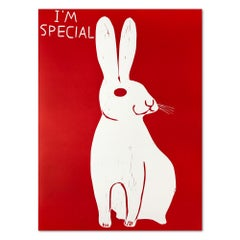 I'm Special  Linocut  Contemporary Art  21st Century  Rabbit
