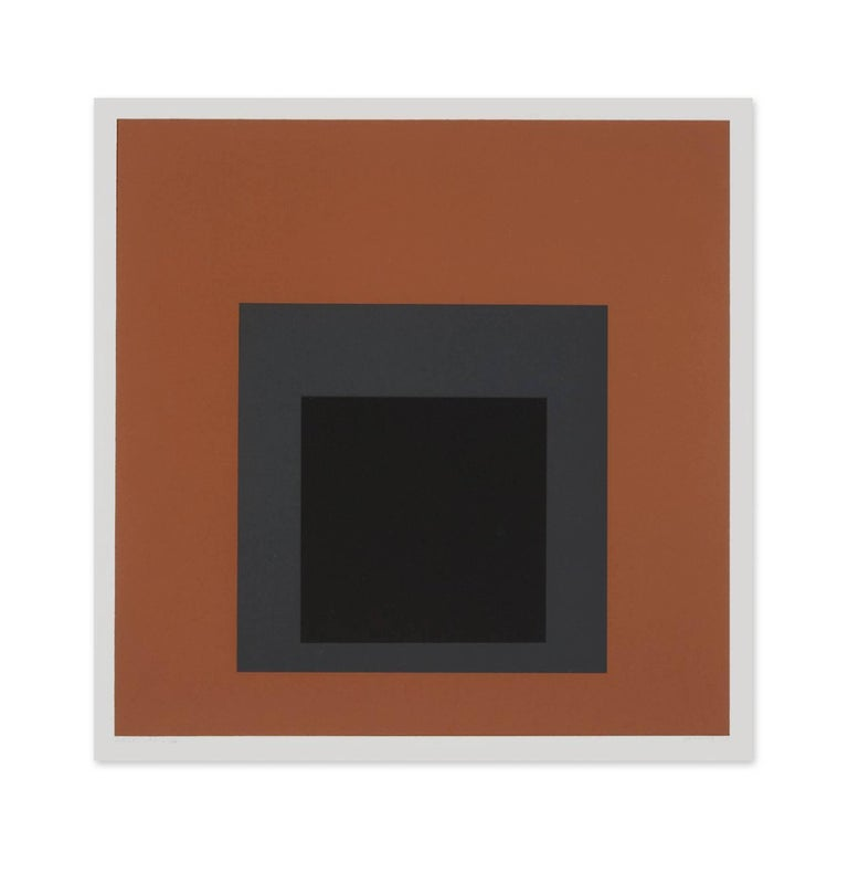 Josef Albers Abstract Print - Attic