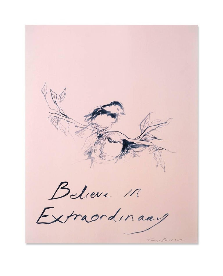 Tracey Emin Interior Print - Believe in Extraordinary