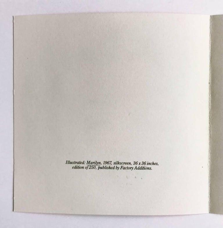 Marilyn (Castelli Gallery Invitation) - Print by Andy Warhol
