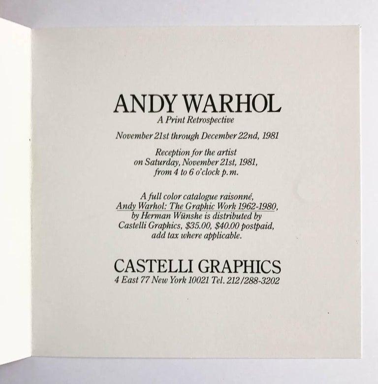 Marilyn (Castelli Gallery Invitation) - Pop Art Print by Andy Warhol