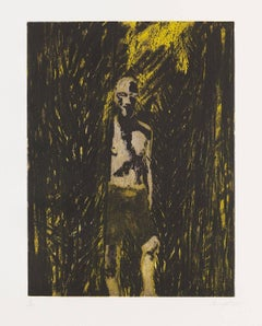 Untitled (Fisherman), Etching and Aquatint, British Artist, Contemporary Painter