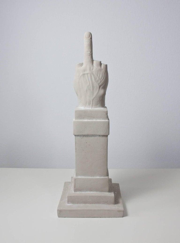 Maurizio Cattelan L O V E Concrete Sculpture For Sale