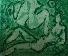Untitled (Green), Contemporary Art, Neo-Expressionism, 20th Century