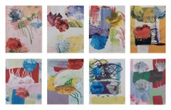 Untitled, Suite of 8 Screenprints, Contemporary Art, Abstract Collage