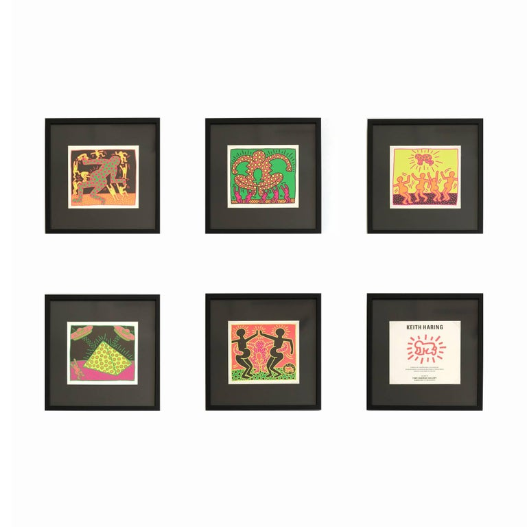(after) Keith Haring Figurative Print - The Fertility Suite (Shafrazi Gallery Promotional Cards), Pop Art, Street Art