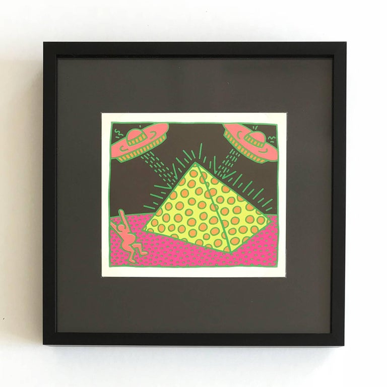 The Fertility Suite (Shafrazi Gallery Promotional Cards), Pop Art, Street Art - Black Figurative Print by (after) Keith Haring