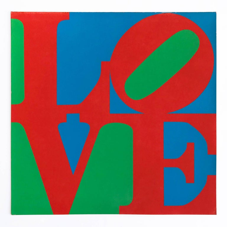 Robert Indiana Figurative Print - LOVE - Original MoMA Christmas Card, Screen Print, 1965, Pop Art, 20th Century