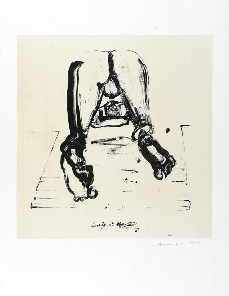 Lonely at the Top, Lithograph, Contemporary Art, 20th Century