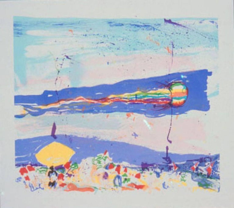 Malcolm Morley Landscape Print - Kite on Gibson Beach
