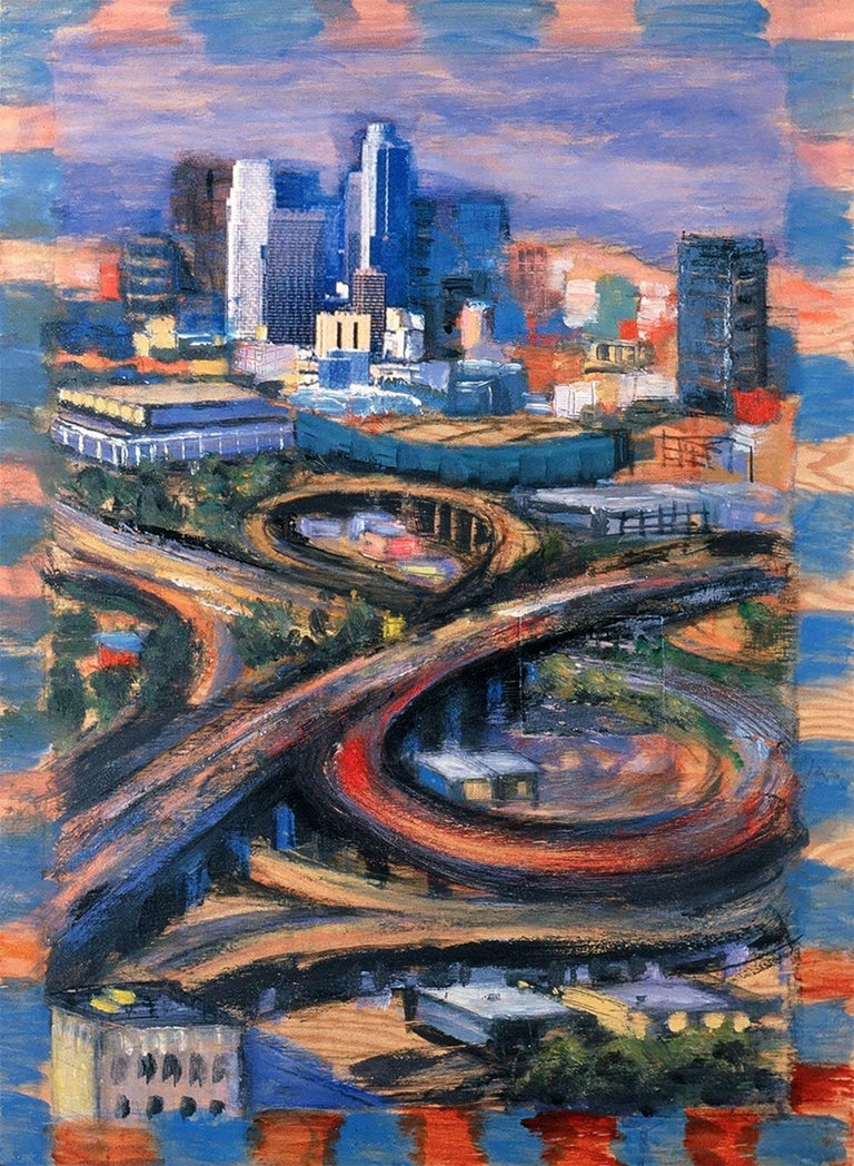 Sunday Interchange - Painting by Ilana Bloch