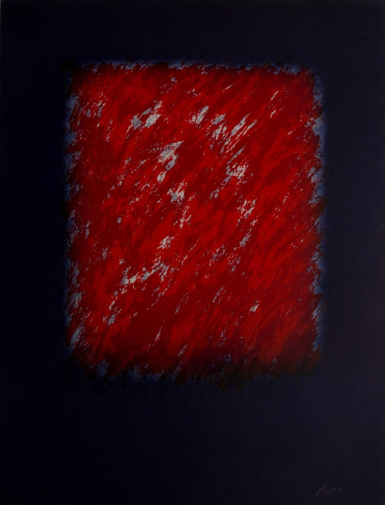 Eric Orr Abstract Print - Red Bacelona Series