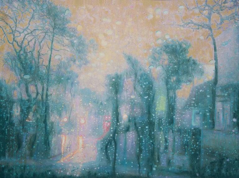 Late Day City Rain