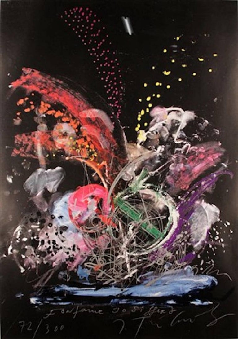 Jean Tinguely Abstract Print - Fontaine Jo Syffert