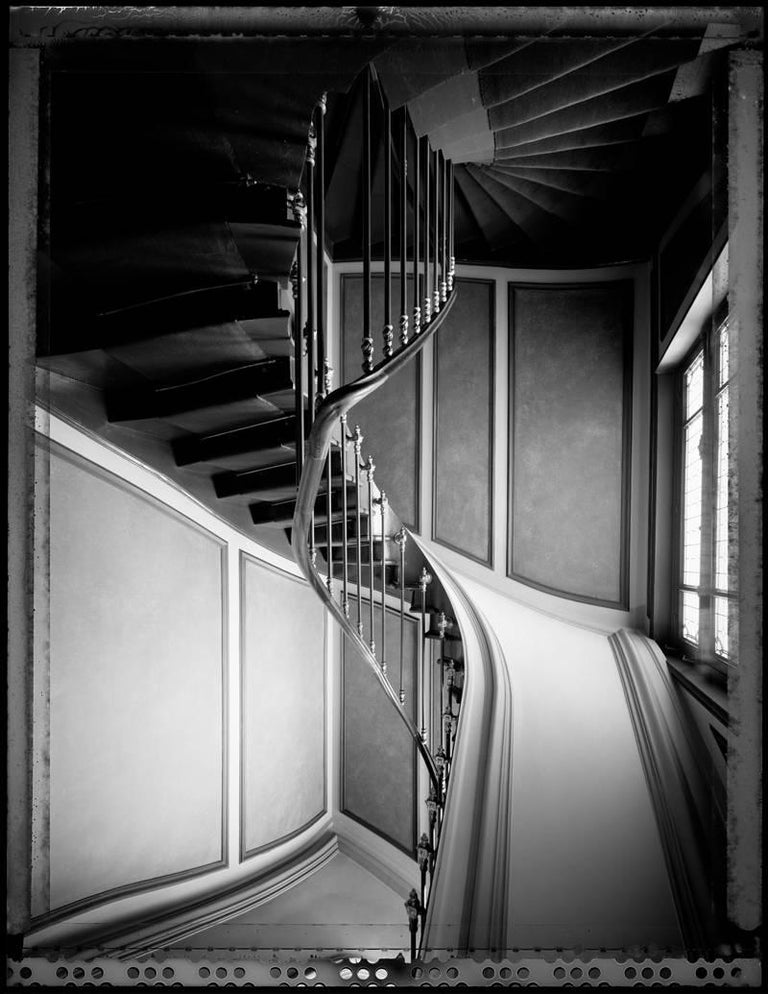 Francois Dischinger Paris 911 archival black and white silver fiber print mounted to dibond and framed in lacquer wood with museum glass 20 x 16 inches, 20.75 x 16.75 inches framed edition of 15 with 6 APs Signed and numbered