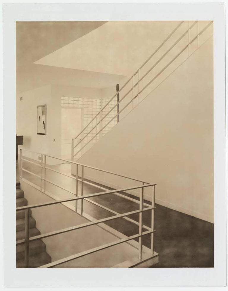 Francois Dischinger Brill House Staircase archival pigment print  mounted to dibond and framed in lacquer wood and museum glass 20 x 16 inches, 20 3/4 x 16 3/4 inches framed edition of 15 with 6 APs signed and numbered