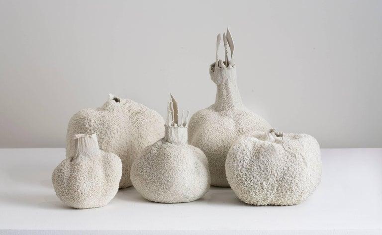 White 11, small white ceramic porcelain vase by Michal Fargo 3