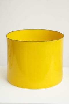 Yellow porcelain vessel by Danish ceramicist Bodil Manz