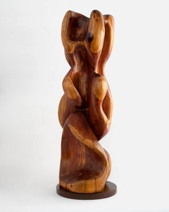 Untitled wood abstract sculpture by American Ralph Dorazio, ca. 1970