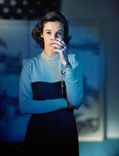 """Barbara """"Babe"""" Cushing Mortimer Paley, Dress by Traina-Norell, 1946"""