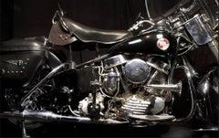 Elvis Presley's 1957 Harley-Davidson Hydra Glide, Graceland, Memphis, 2011