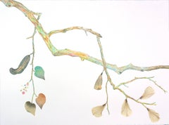 "Marilla Palmer ""Dangling Heavy"" -- Mixed Media Painting on Paper"