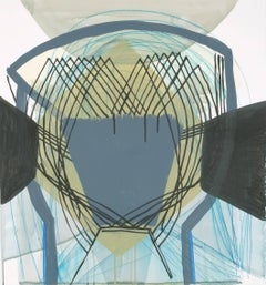 """Ky Anderson """"Side Straps #2"""" -- Abstract Painting on Paper"""