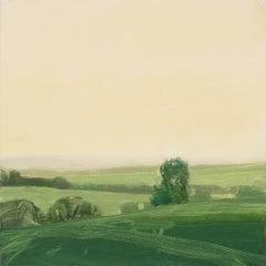 "Sara McCulloch ""Dusk, England"" -- Landscape Oil Painting on Panel"