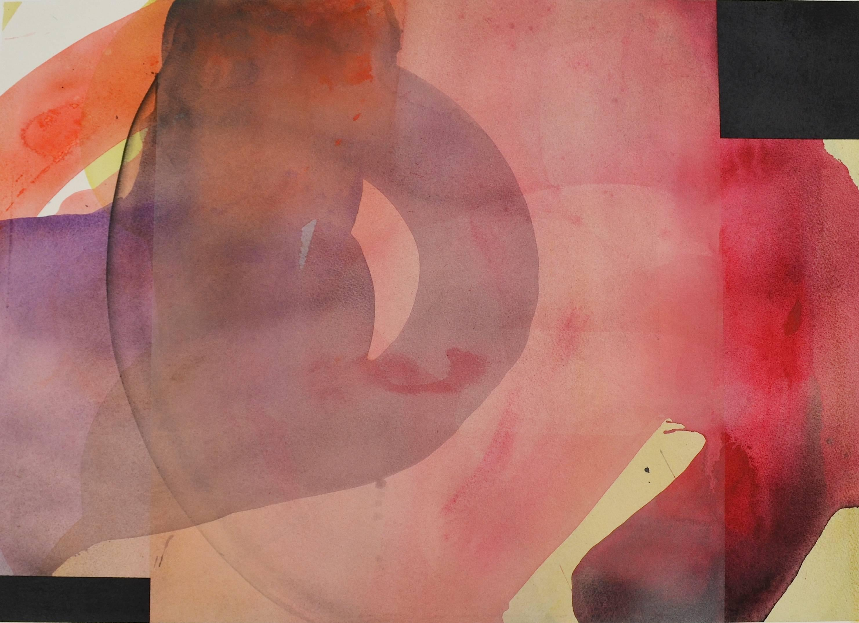 """Daniel Brice """"Untitled NY 12, 2016"""" -- Colorful Abstract Painting on Paper"""