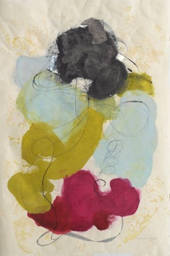 """Tracey Adams """"Guna V"""" - Abstract Painting on Paper"""