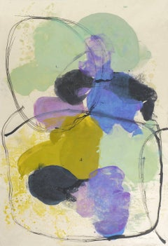 """Tracey Adams """"Guna Y"""" - Abstract Painting on Paper"""