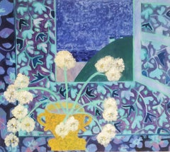 "Denise Regan ""Chrysanthemum"" Oil Painting on Canvas"