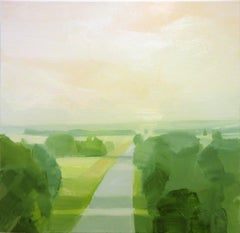"""Sara McCulloch """"Road"""" -- Landscape Oil Painting on Canvas"""