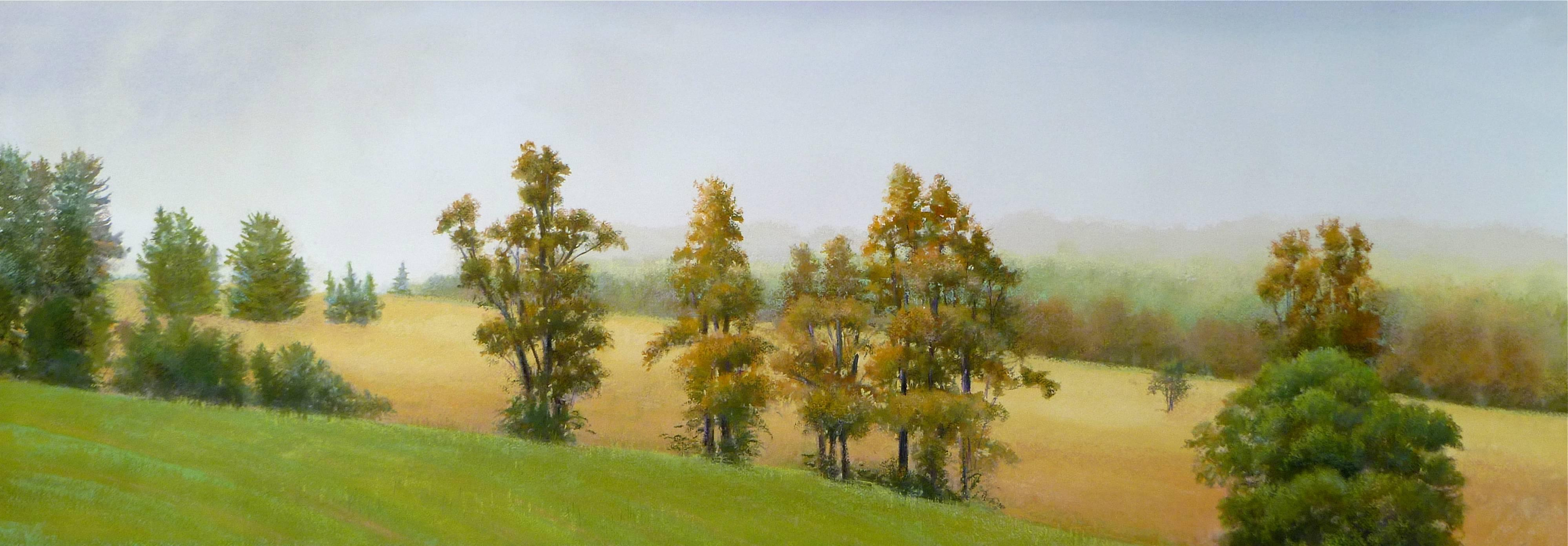"""Elissa Gore """"Florence Field"""" -- Landscape Painting on Paper"""