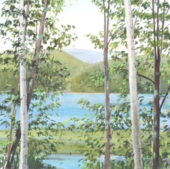 """Elissa Gore """"Watersign 4"""" -- Landscape Painting on Paper"""