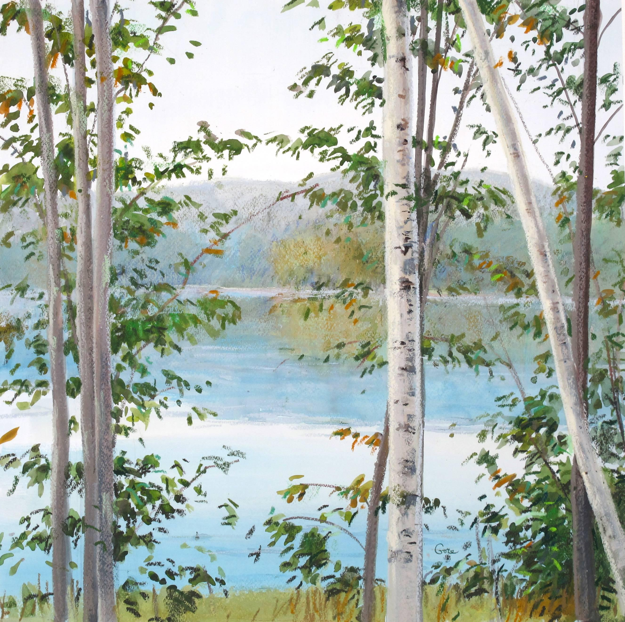 """Elissa Gore """"Watersign 5"""" -- Landscape Painting on Paper"""
