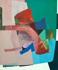 """Susan Cantrick """"Sbc198"""" -- Colorful Abstract Painting on Paper"""