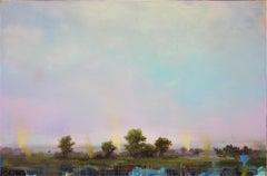 "Peter Hoffer ""Printemps"" -- Colorful Landscape Painting on Canvas"